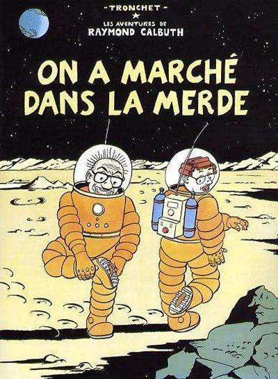 Et c'est du pied droit ! Zut ! A quand les motos crottes sur la Lune ?!