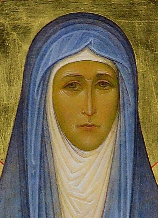 I believe this is an icon of the New Martyr the Grand Duchess Elizabeth of Russia.