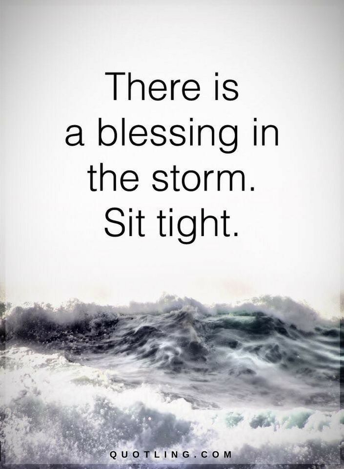 Quotes About Surviving The Storm There Is A Blessing In The Storm