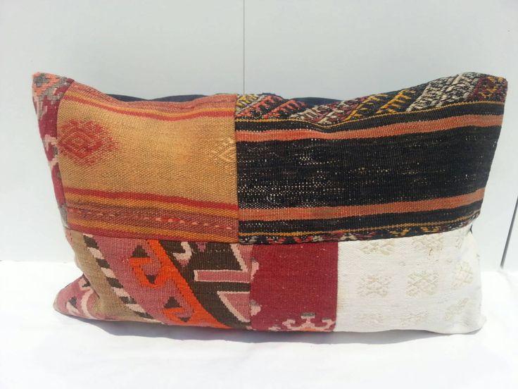 KİLİM Pillow Lumbar, Handwoven Decorative Turkish Kilim Pillow Lumbar, sofa Pillow, living room Decoration handmade, 16x24 inches, 40x60 cm by Simavrug on Etsy