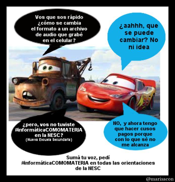 En Argentina hay 182 carreras de Informática http://www.buscouniversidad.com.ar/carrera-informatica.html, pero en la NESC no se enseña #informáticaCOMOMATERIA @mechimiguel, @jorgemaguado