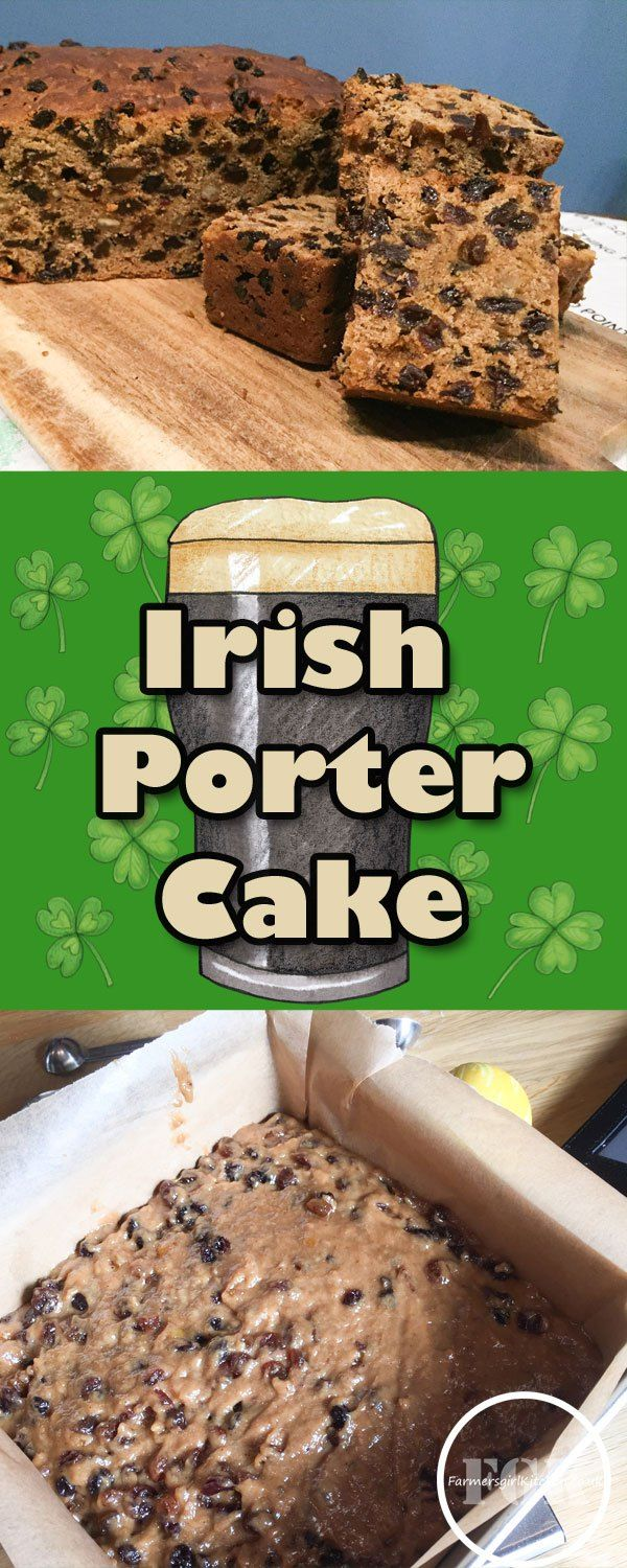 Irish Porter Cake for St Patrick's Day