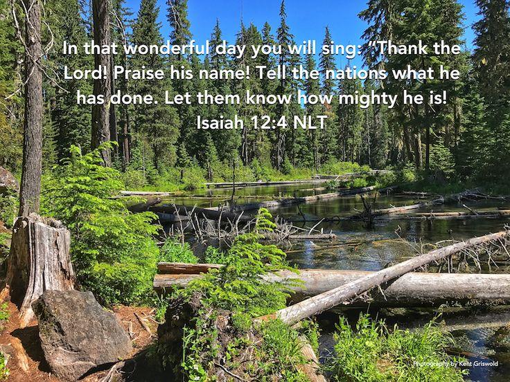 Thanks - Isaiah 12:4