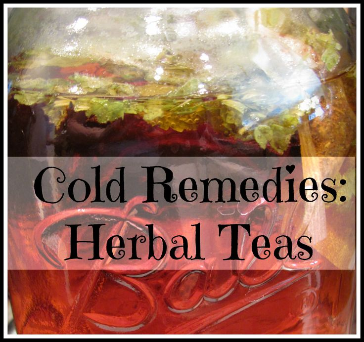 12 Herbal Teas for Colds- a delicious and healthy way to treat a cold is a hot cup of tea!