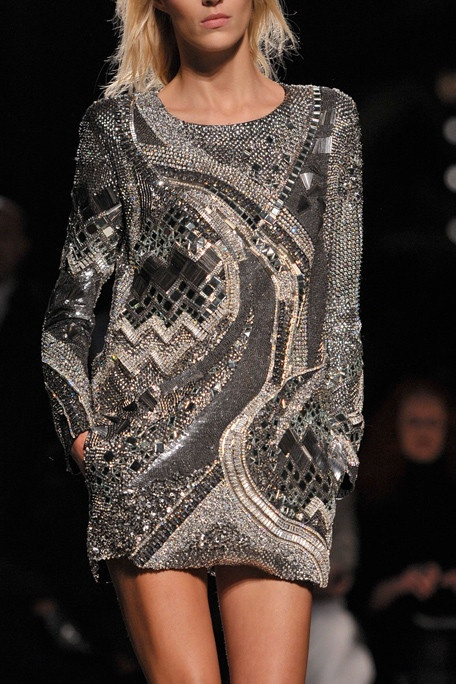 Balmain  Grey Dress.