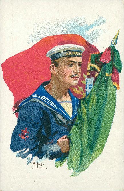 Portuguese sailor postcard