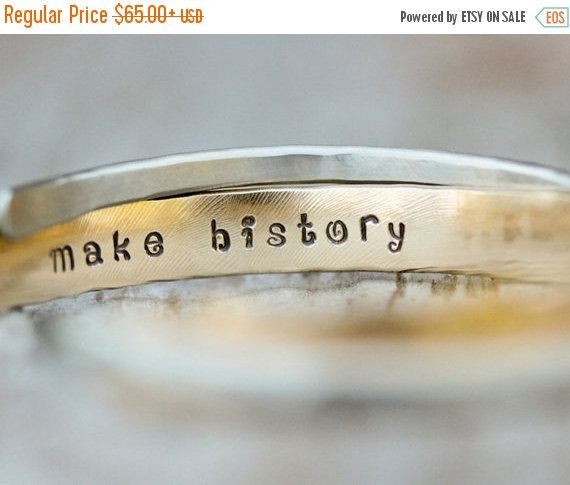 LABOR DAY SALE Graduation Gift For Her / Inspirational Gift / Inspirational Jewelry / Personalized Gift / Silver Gold Cuffs / Well Behaved W by amywaltz #TrendingEtsy