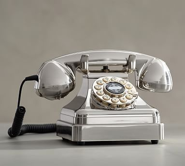 Crosley Kettle Classic Desk Phone, Brushed Chrome
