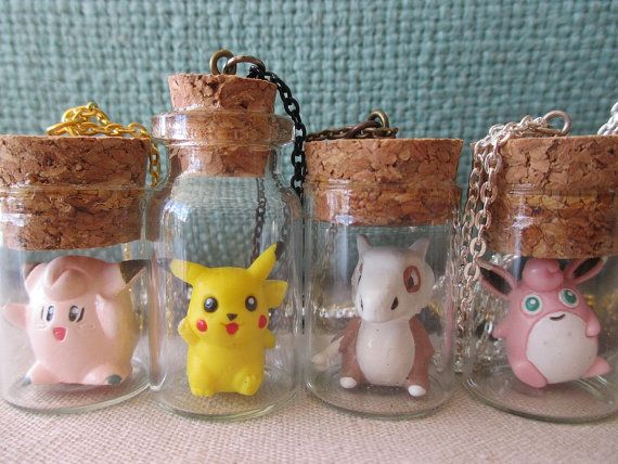 Pokémon Necklaces Toys in a Bottle NEW DESIGNS by GlitzCouture