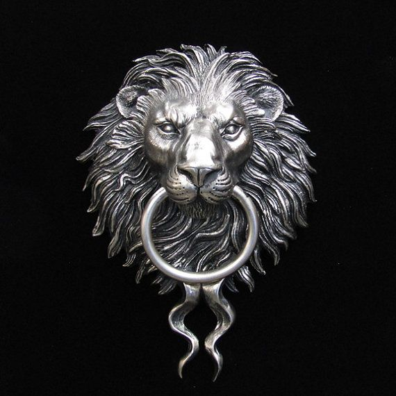 258 best images about bits and pieces on pinterest rose gold band rings and viking dragon - Bronze lion head door knocker ...
