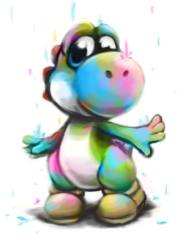 how to draw yoshi easy