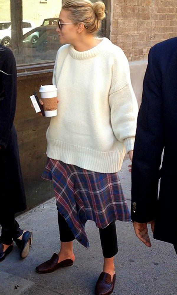Ashley Olsen. Plaid layers