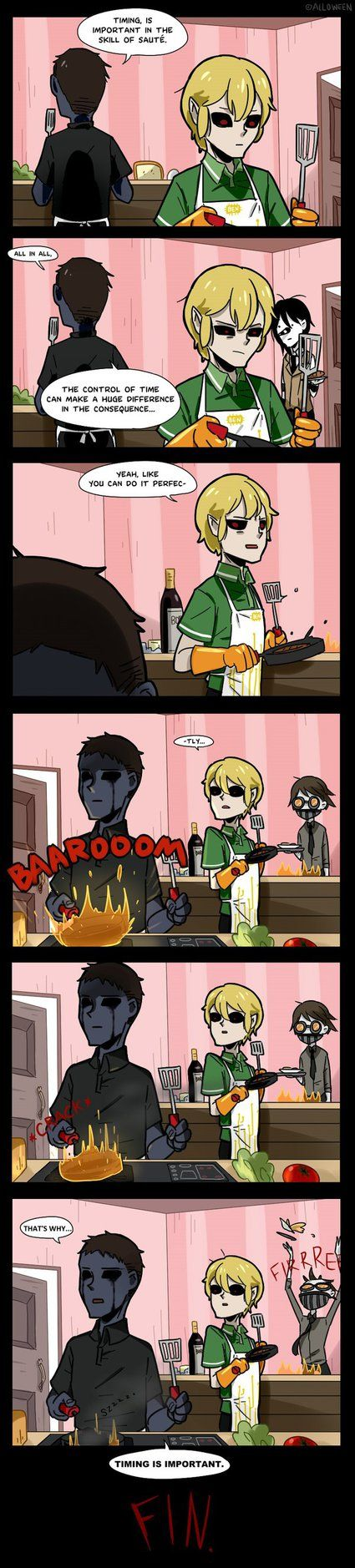 Creepypasta Cafe 016 by Alloween.deviantart.com on @DeviantArt  I usually don't pin this stuff but this is too funny