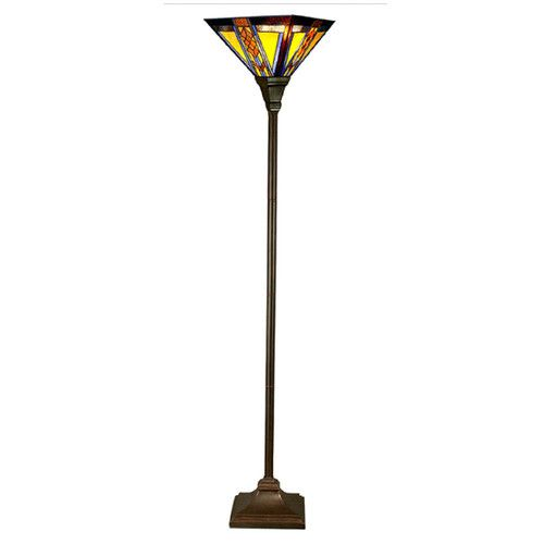 "Found it at Wayfair - Southwestern Mission Style Stained Glass 70"" Torchiere Floor Lamp"
