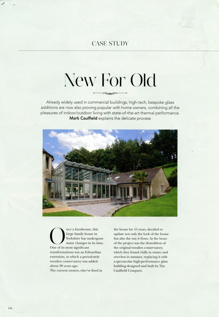 The Caulfield Company combines all the pleasures of indoor/outdoor living with state-of-the-art thermal performance. Mark Caulfield explains the delicate process. caulfieldcompany.co.uk The Cheshire Magazine December 2017
