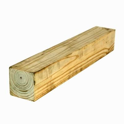4 in. x 4 in. x 10 ft. #2 Pressure-Treated Timber-4220254 at The Home Depot
