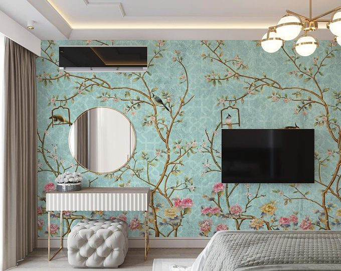 New Avignon Chinoiserie Peel N Stick Or Prepasted Wallpaper Removable Vinyl Free Non Toxic Chinoiserie Wallpaper Mural Wallpaper Chinoiserie