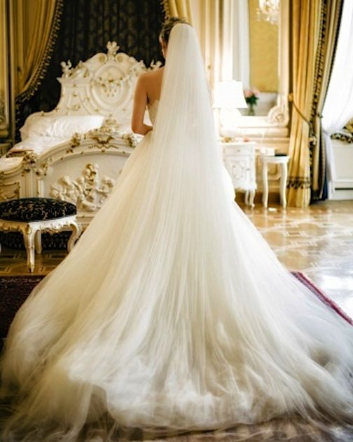Long dress long veil wedding dresses pinterest long for Long veil wedding dresses