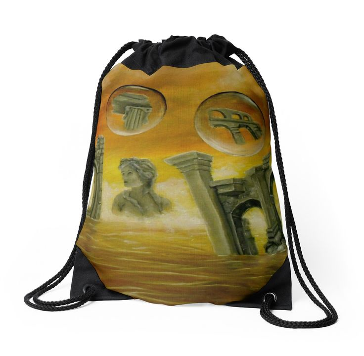 Drawstring Bag,  ancient,temples,ruins,orange,golden,colorful,impressive,beautiful,unique,trendy,artistic,unusual,accessories,for sale,design,items,products,ideas,redbubble