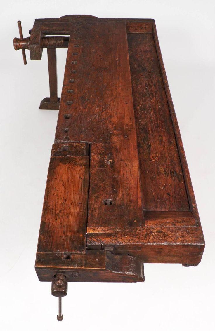 Colossal Antique Alpine Ski Craftsman's Workbench 5