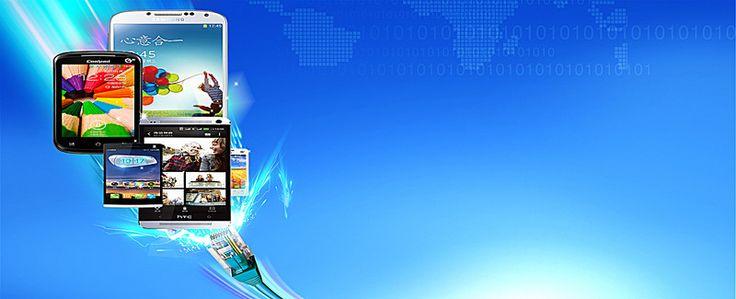 internet technology background banner design, Phone, Digital Product, Blue Background, Background image