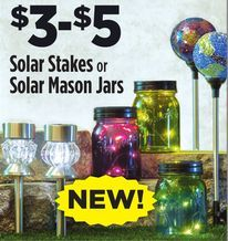 Solar Stakes or Solar Mason Jars from Dollar General $3.00