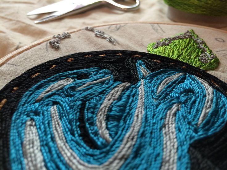 Medicina del corazón, detalle #embroidery #bordado #textilarts #artetextil