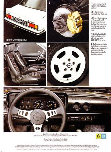 Opel Ascona 400 Brochure
