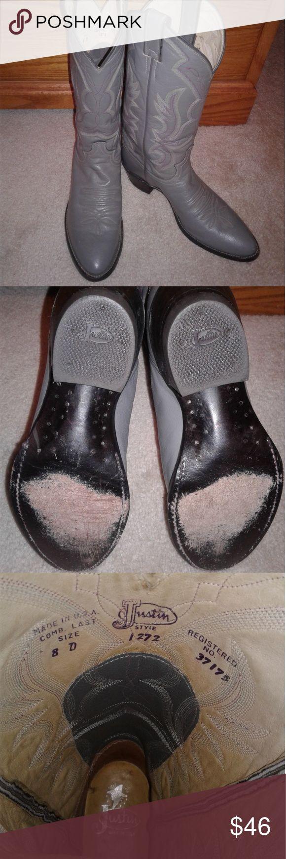 Justin Boots 🏇 Herren 8 Justin Boots Herrengröße 8. Grau in Farbe … diese …