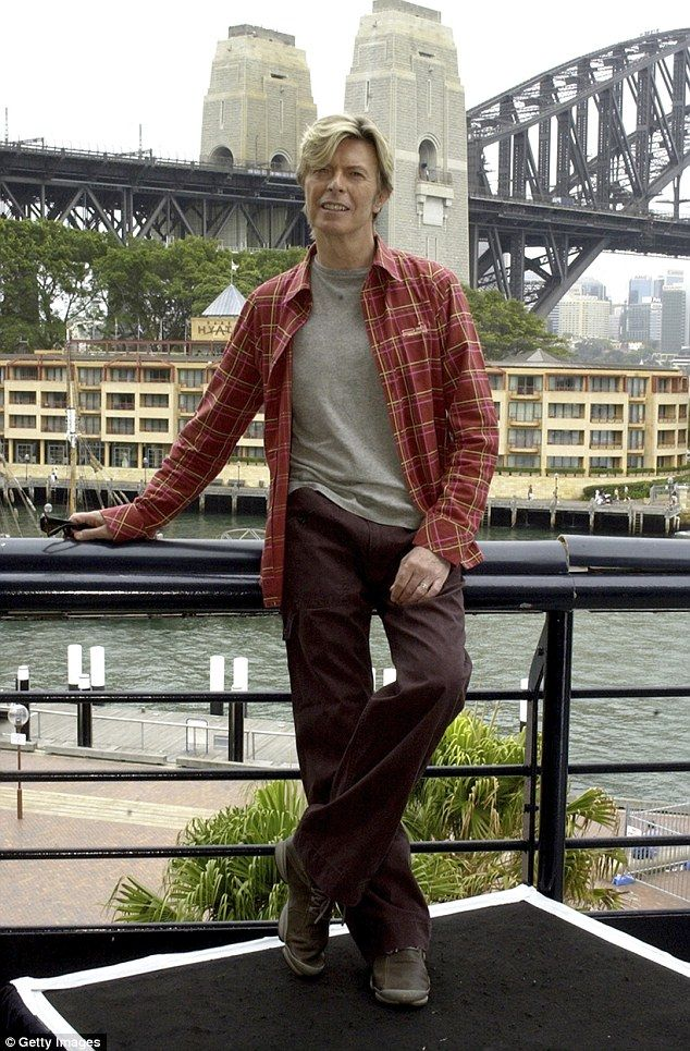 Legend: Bowie first fell in love with the country during his Australian concert tour in 1978, and went on to spend much of the 1980s living in Sydney, pictured in 2004