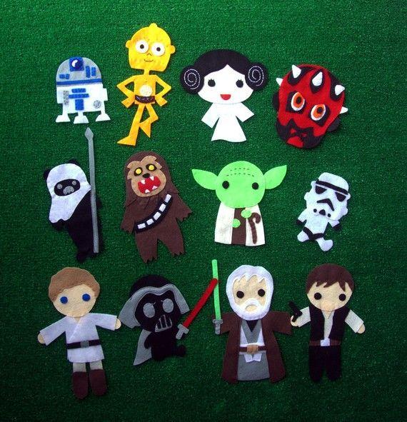Muñecos de fieltro de star wars