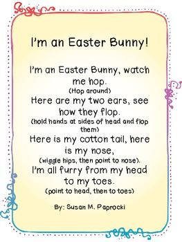 I'm an Easter Bunny Poem