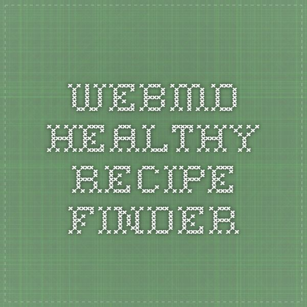 WebMD Healthy Recipe Finder