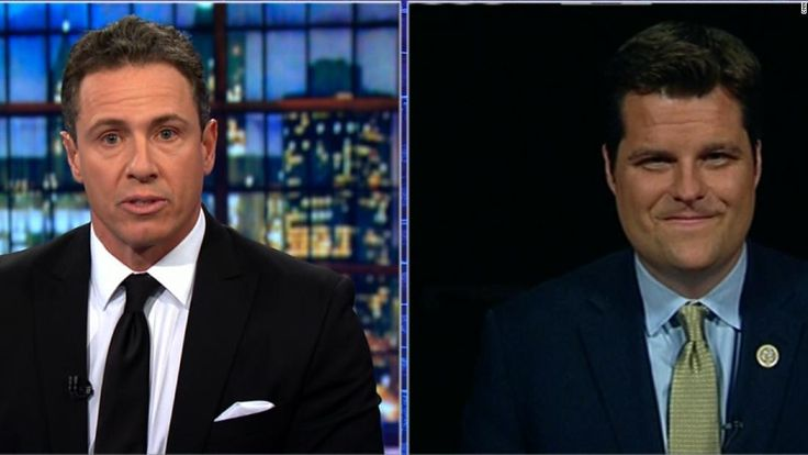 "CNN's Chris Cuomo and Rep. Matt Gaetz (R- FL) clash over newly released text messages between two FBI agents discussing a ""secret society."""