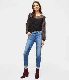 Loft Modern Cuffed Skinny Jeans in Rich Mid Stonewash Found on my new favorite app Dote Shopping #DoteApp #Shopping
