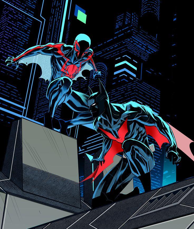 Spiderman 2099/Batman Beyond by Dan Mora #Teamup #DC #Marvel