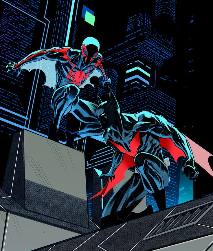 Spiderman 2099/Batman Beyond by Dan Mora #Teamup #DC #Marvel
