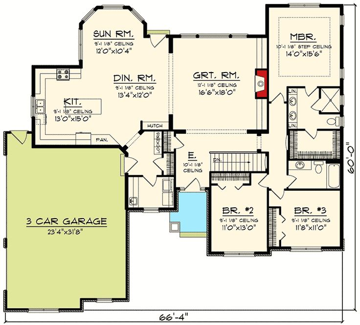 Best 25 craftsman ranch ideas on pinterest ranch floor for Sunroom floor plans