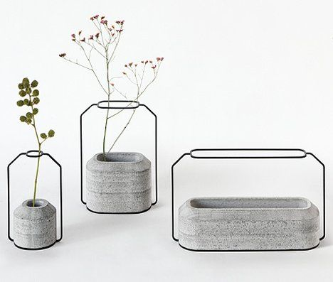 Concrete and wire are perhaps two of the least likely materials for making flower vases. But thanks to Thai designer Decha Archjananun, they have come together in this lovely form