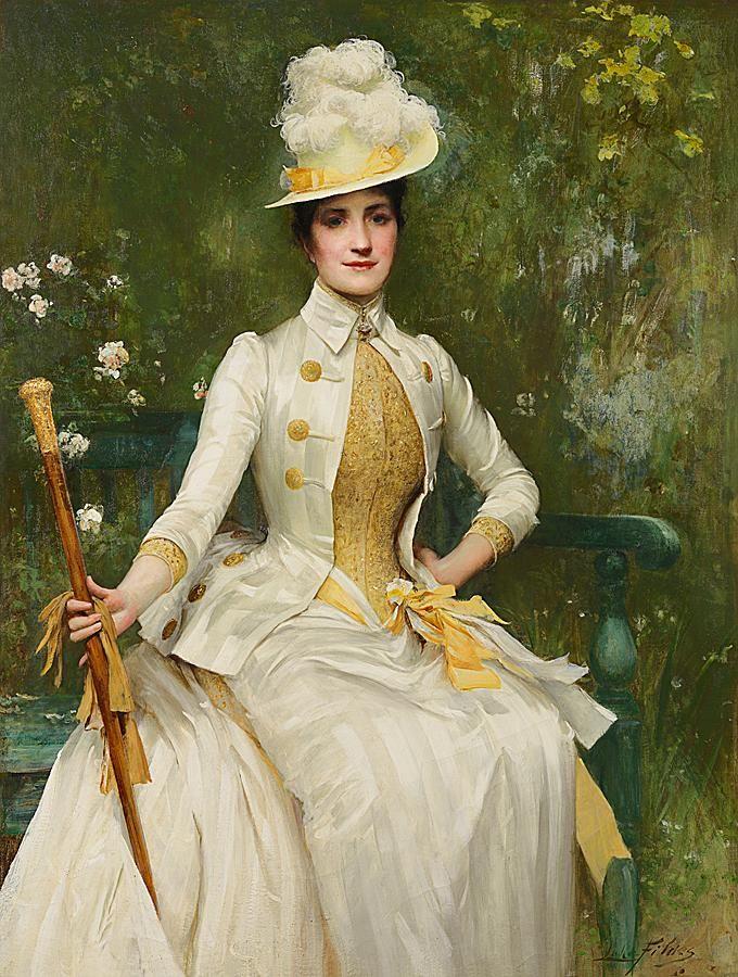 Sir Samuel Luke Fildes - Portrait of Mrs Lockett Agnew, 1887-88