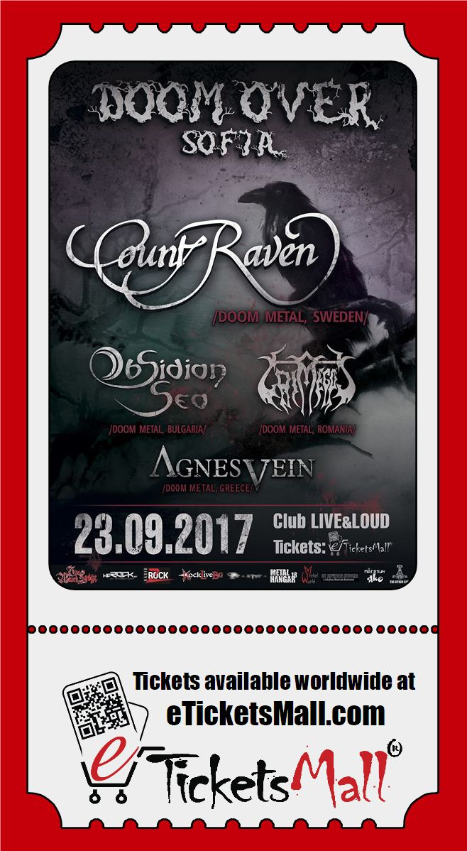 Official after-party with Count Raven! One more band joins Doom Over Sofia 2017! Don't miss it! Get your ticket now!  Read more: https://www.eticketsmall.com/news_info.php?nID=216 #Tickets: https://www.eticketsmall.com/product_info.php?products_id=855 Официално афтърпарти с Count Raven! Oще една банда се присъединява към Doom Over Sofia 2017! Не го пропускай! Вземи билет сега! Подробности: https://www.eticketsmall.com/news_info.php?nID=216 #Билети: https://www.eticketsmall.com