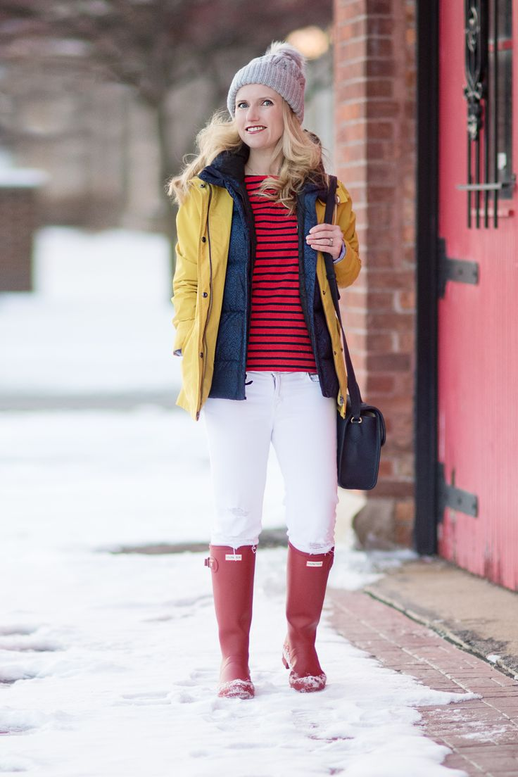 Petite Fashion and Style Blog | Barbour Waterproof Jacket | J. Brand Cropped Skinny Jeans | Gigi New York Amelie Crossbody | Hunter Tall Boots | Click to Read More...