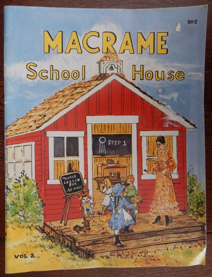 Learn to Macrame Instructional Pattern Book/Macrame School House vol. 2/7 Lessons 7 Projects/magazine rack carousel clown plant hanger by RedWickerBasket on Etsy