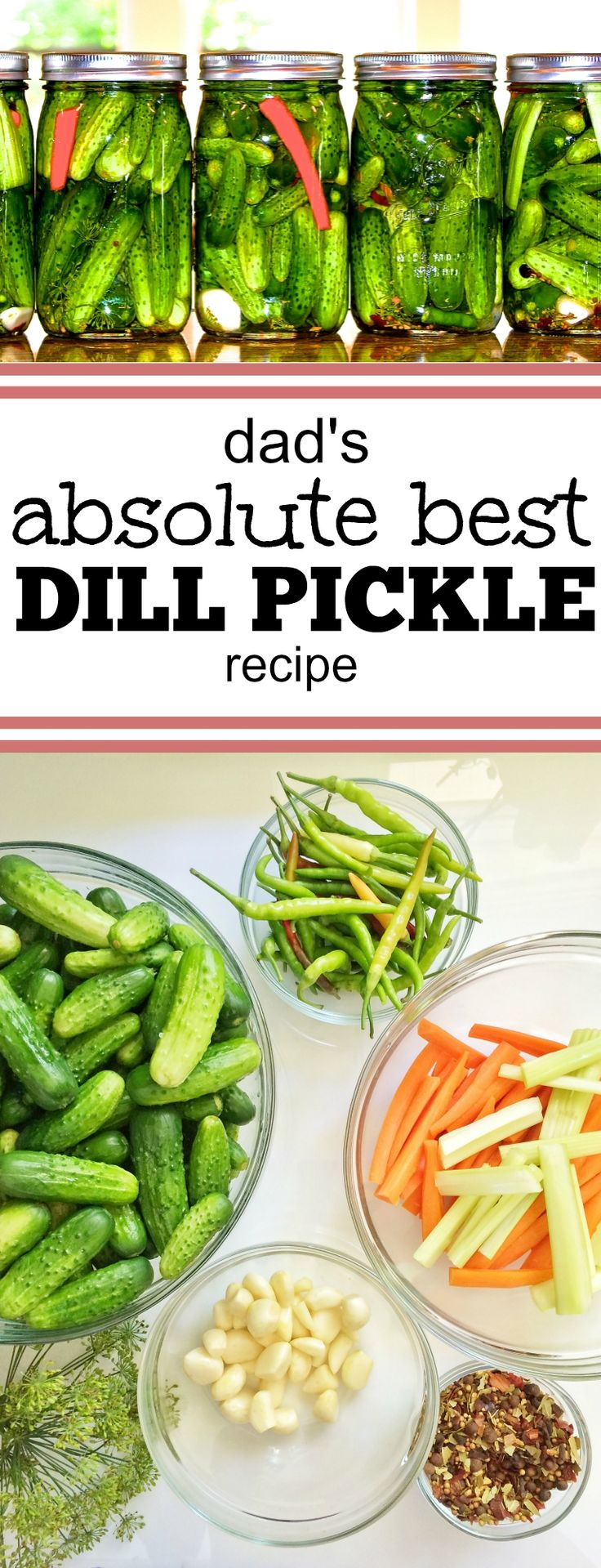 The best recipe for homemade pickles!