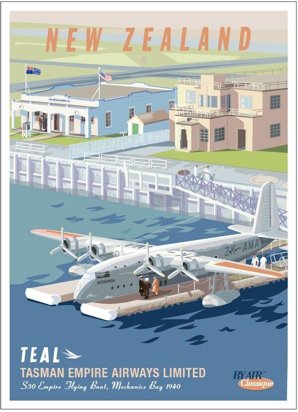 TEAL Postcard by Air Classique