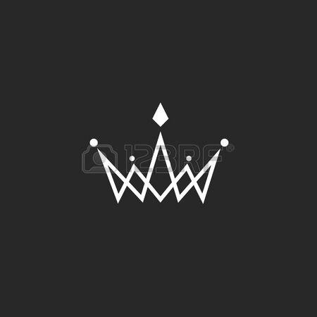 crown logo monogramm mockup schwarz wei k nigliches symbol mit juwelen in der kreuzung d nne