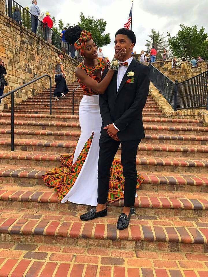 African theme prom dress