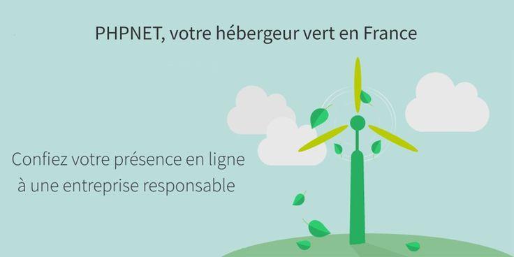 PHPNET hébergeur web français et Eco-responsable