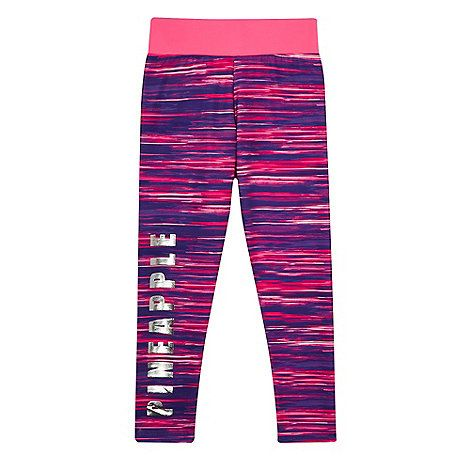 Pineapple Girls' pink space dye leggings | Debenhams