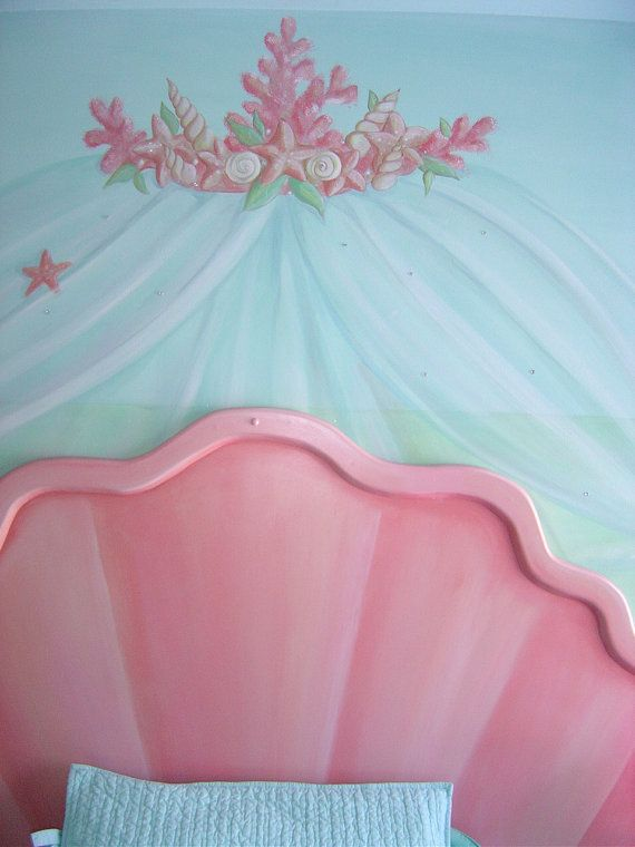 Mermaid Shell Headboard  Kitschy Keen  Mermaid shell Mermaid bedroom Mermaid room